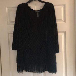 Plus size black dressy top